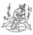 ganesa hindu god vintage vector image