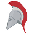 greek helmet vector image