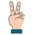 hand counting tow on fingers vector image