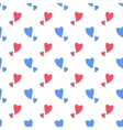 Happy Valentine day romantic seamless pattern vector image vector image