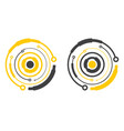 hi-tech element circle form vector image