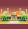 islamic mosque at dusk vector image vector image