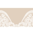 lace border on green background vector image vector image