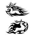 Leaping speeding deer Off Road icon vector image