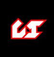 li logo design initial li letter design vector image vector image