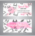 lingerie shower card fashion bra and pantie vector image