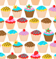 Little cupcakes seamless pattern vector image vector image