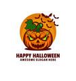 logo happy halloween mascot cartoon style vector image