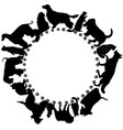 logo with dogs and cats on a white background vector image vector image