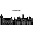 luxembourg architecture city skyline vector image