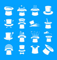 magician hat sorcery icons set simple style vector image