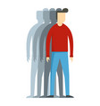 man icon flat style vector image