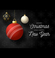 merry christmas and happy new year luxury sports vector image