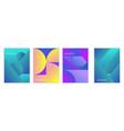 minimalistic gradient posters vector image