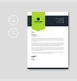 modern green letterhead layout vector image vector image