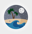 night sandy beach vector image vector image