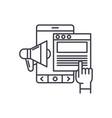 online promotion line icon concept online vector image