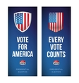 Presidential election banner or poster set vector image vector image
