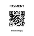 qr code transaction mobile receipt icon vector image vector image