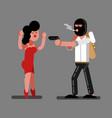 robber rob a girl vector image