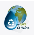 Save water design vector image vector image