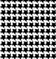 Seamless pattern with black stars on white backgro vector image vector image