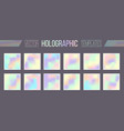 set holographic gradient templates vector image vector image