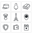 Set of French Legion Icons Kepi Target vector image vector image