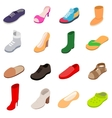Shoes icons set isometric 3d style vector image