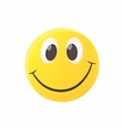Smiling emoticon icon cartoon style vector image vector image