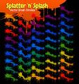 splatter splash brush strokes vector image vector image