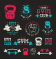 Stock of gym club emblem vector image