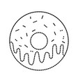 sweet donut yummy food decoration glazed pastry vector image