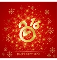 Text design Happy New Year 2016 on the red vector image vector image