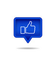 thumb up or like icon isolated on white vector image