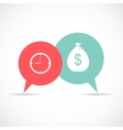 Time and Money Bag in Modern Flat Style Icon vector image