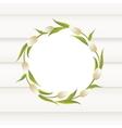 Tulips wreath border vector image vector image
