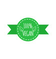 vegan food icon elements for labels logos vector image vector image