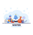 winter sale poster christmas vector image vector image