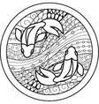 Zodiac sign Pisces vector image vector image