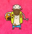 Biker Man Cartoon vector image