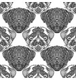 seamless pattern with cute dogs pug puppy vector image