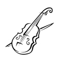 Violin and bow vector image