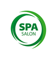Abstract round logo for Spa salon vector image vector image