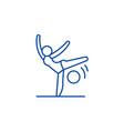 acrobatics line icon concept acrobatics flat vector image