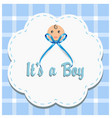 baby boy gender reveal vector image