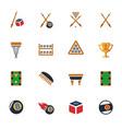 billiards icon set vector image vector image