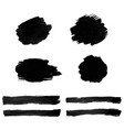 black blot isolated vector image vector image