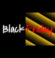 black friday sale information sign vector image vector image