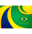 Brazil colors abstract corporate wavy vector image vector image